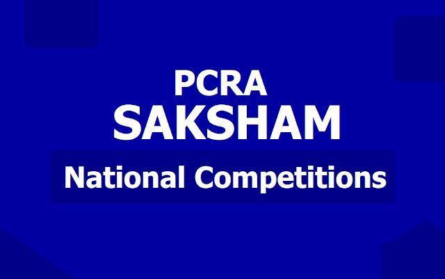 PCRA Saksham National Competitions 2019 Poster, Brochure, Salient Features