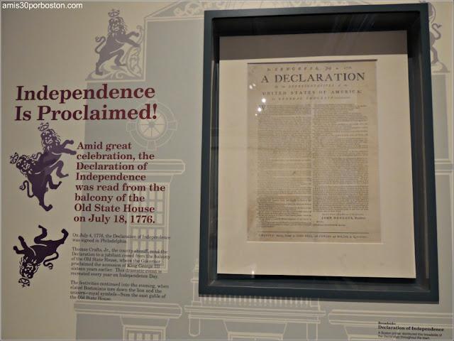 Exhibición sobre la Declaración de Independencia de Estados Unidos