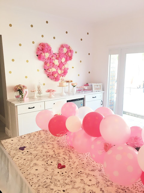 Floral Minnie Mouse Birthday Party by popular party blogger Celebration Stylist
