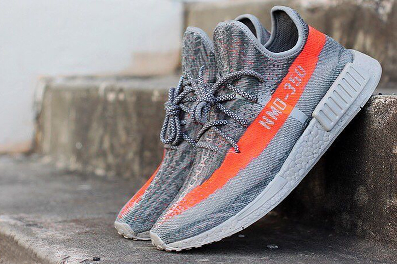 9b0ef12f Sneaker customizer Jake Danklefs has morphed two of the most hyped sneakers  of 2016, the NMD_XR1 and YEEZY BOOST 350 V2, into one custom shoe.