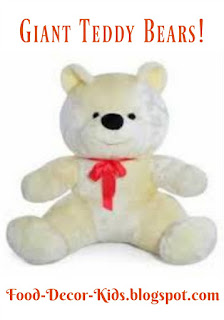 Giant Teddy Bears food-decor-kids.blogspot.com