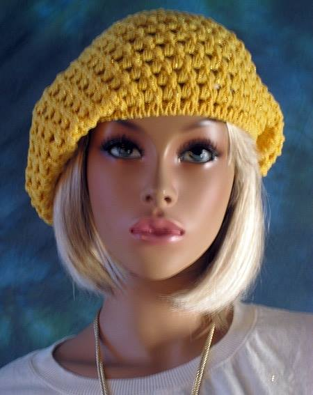 Patrón 920 Boina Amarilla a Crochet
