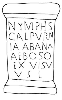 Ara de Calpurnia Abana ofrecida a las ninfas de las aguas de As Burgas