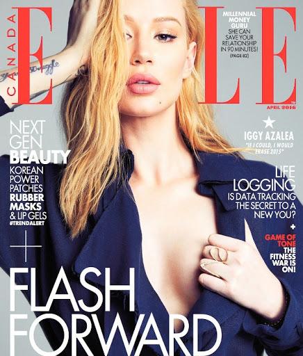 iggy azalea sexy models photo shoot for elle canada magazine cover