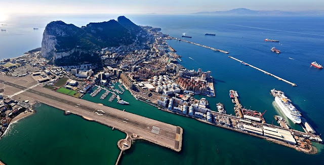 Image Attribute: The Port of Gibraltar (Aerial View from the North West),  Source: Wikimedia Commons
