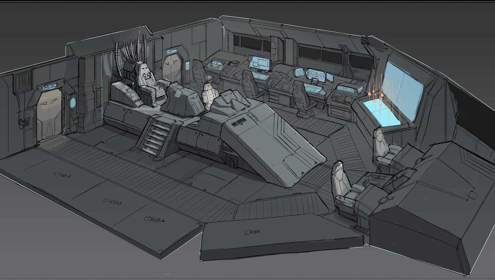 single person bridge sci fi spacecraft - photo #6