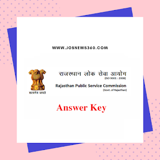 RPSC SI Answer Key for GK & General Science, General Hindi