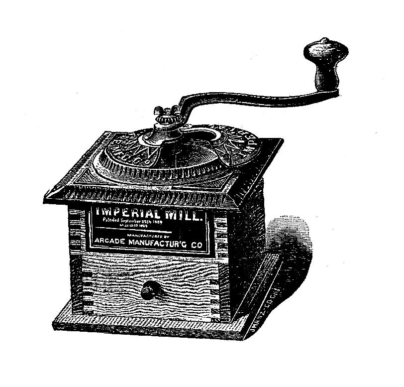 Digital Stamp Design: Free Coffee Mill Digital Stamp ...