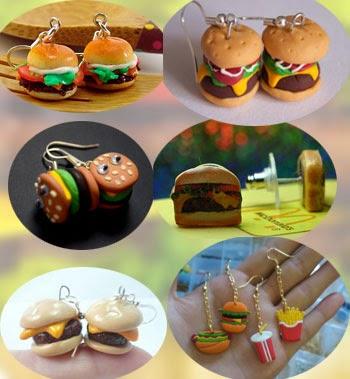 boucles d'oreilles hamburger