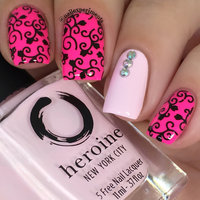 heroine nyc mean girls and sugar spun nail polish swatch