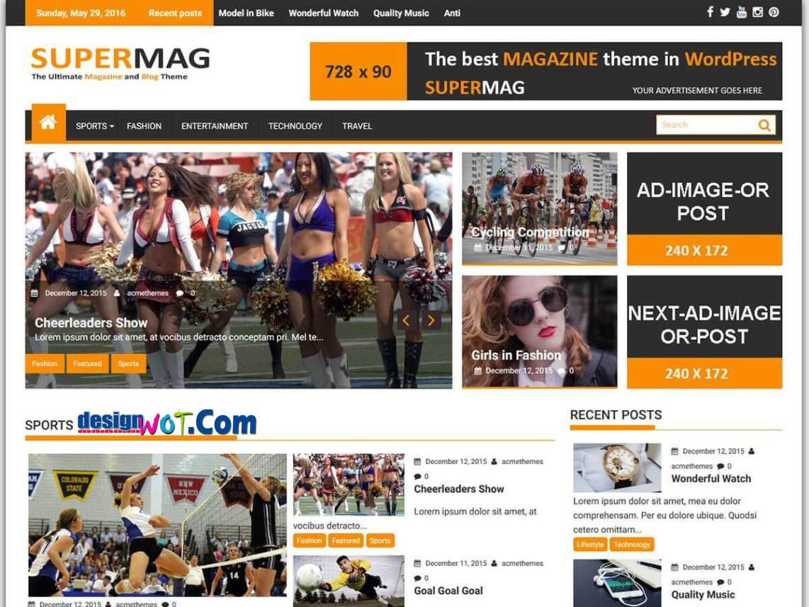 SUPERMAG Responsive WordPress Theme