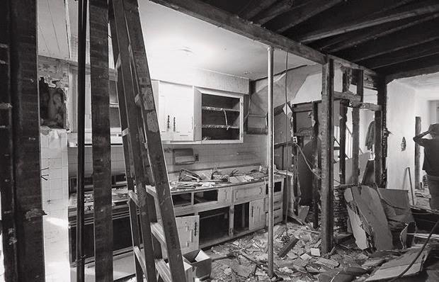 antes y despues de la reforma de una cocina