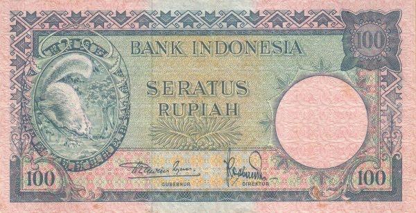 Rp100 tahun 1957