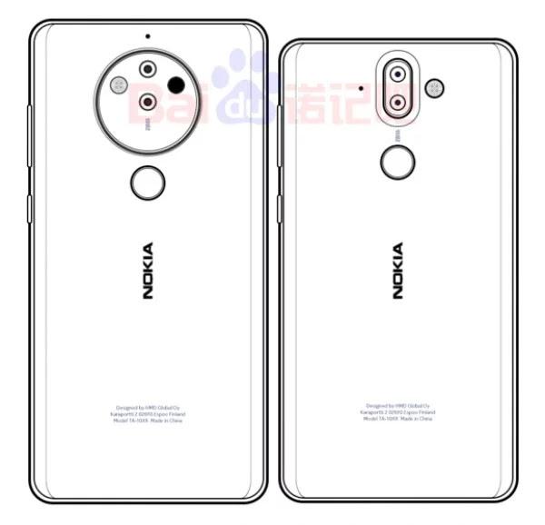Muncul Gambar Sketsa Nokia 10 dengan Modul Kamera Penta-Lens