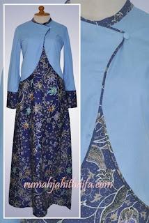 Model Gamis Batik Dengan Bolero