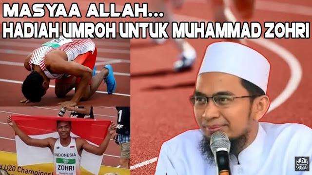 LAGI! Ustadz Adi Hidayat Buat Kejutan Beri Hadiah Umroh Untuk Muhammad Zohri