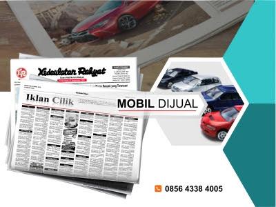 pasang iklan mobil dijual di koran KR