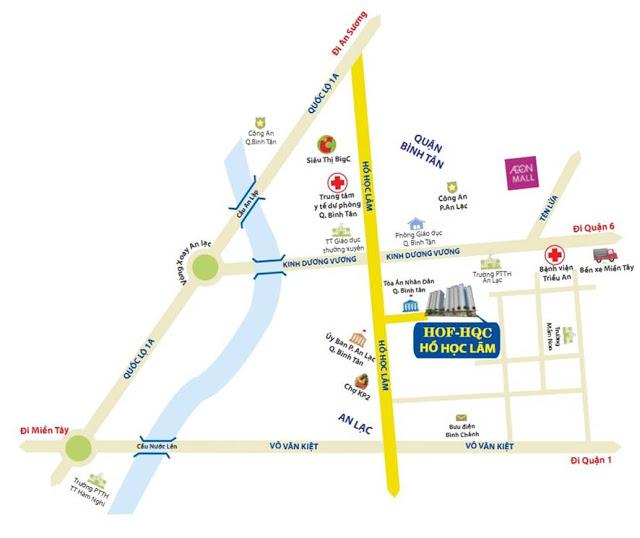 Vị trí căn hộ Quận Bình Tân
