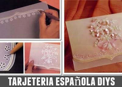 Como Repujar Papel Vegetal y realizar tarjetas españolas