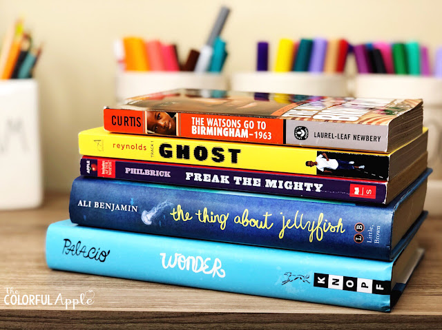 First Chapter Fridays are a quick and easy way to expose your upper elementary students to new novels.  By reading just the first chapter, you'll engage them in reading and encourage them to pick up a new book!