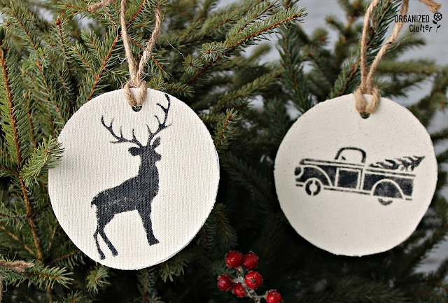 DIY Fabric Ornaments With Stencils From Joann Fabrics