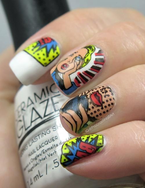 Nail Art The Digit Al Dozen Does Paper Pop Art Comic Nails