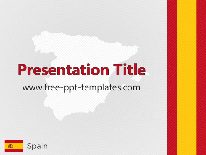 spain ppt template, Modern powerpoint