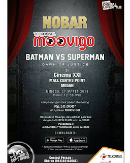 Nonton GRATIS Batman VS Superman di XXI Centre Point