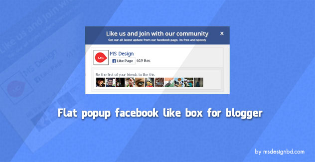 Flat Popup Facebook Like Box Widget for Blogger