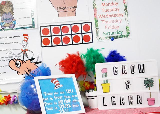 Heidi Swapp Lightbox classroom decor