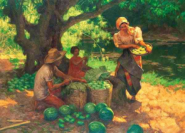 Fernando Amorsolo, Under the Mango Tree