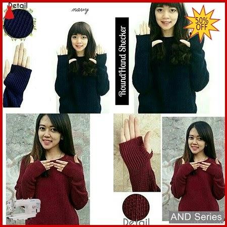 AND010 Baju Atasan Wanita Blouse Roundhand Rajut BMGShop