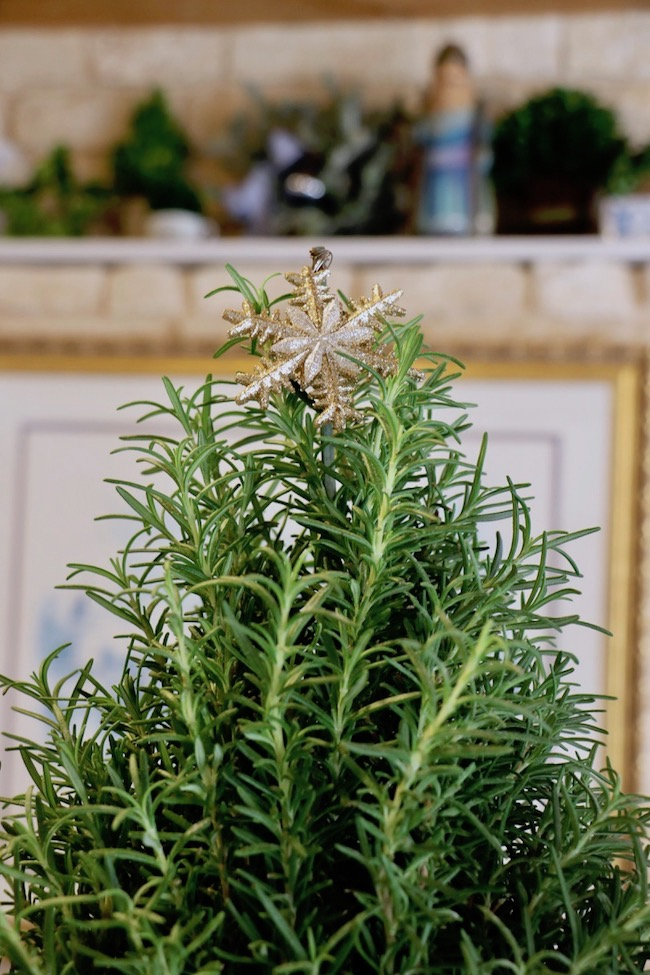 christmas-rosemary-trees-kitchen-island-snowflake-topper