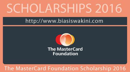 The MasterCard Foundation Scholarship 2016