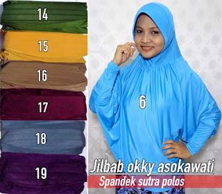 Jilbab okky asokawaty modern model tangan bergaya syar'i