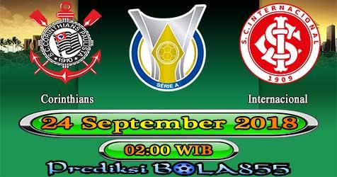 Prediksi Bola855 Corinthians vs Internacional 24 September 2018