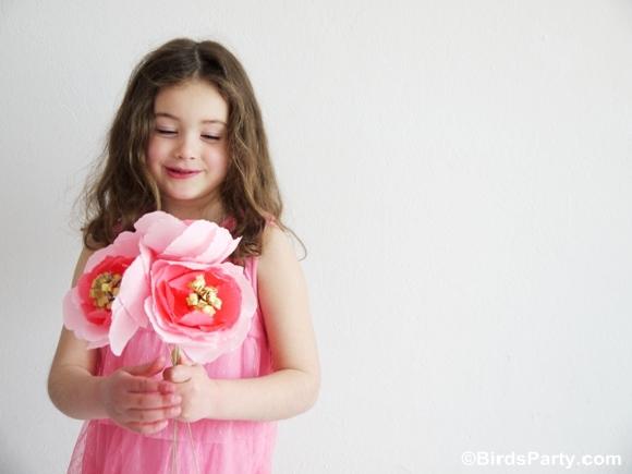 DIY Bouquet de Fleurs en Papier pour la Fête des Mères | BirdsParty.fr