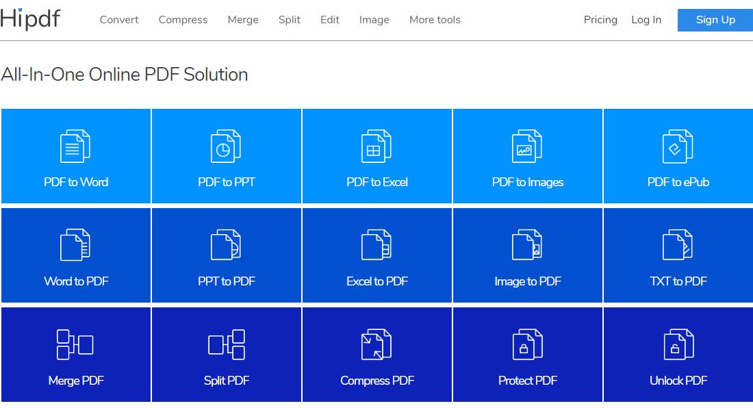 Hipdf : Free online PDF converter and editor