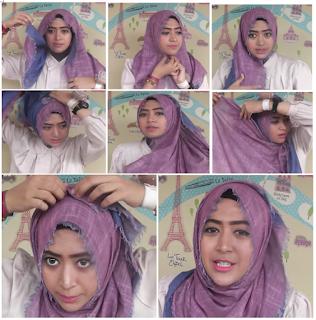 Cara Memakai Hijab Terbaru Natasha Farani
