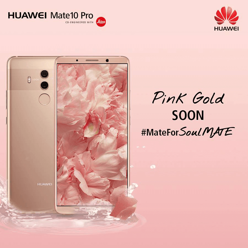 Huawei Mate 10 Pro Pink Gold will be available in PH on Feb 10!