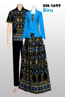 Gamis Batik Kombinasi Bolero Polos