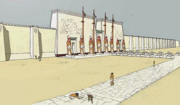 Így festhetett Ptah isten temploma Memphiszben