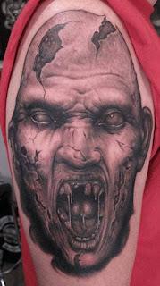 tato zombie di lengan