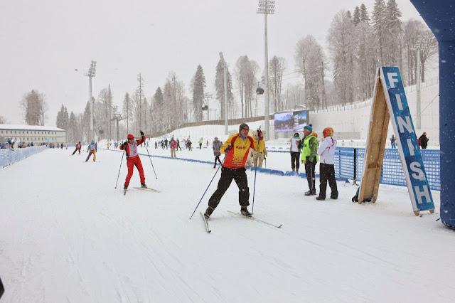 Лыжная трасса для беговых лыж в комплексе Лаура