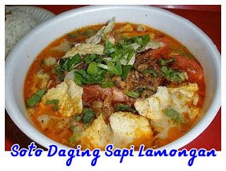 soto daging sapi lamongan
