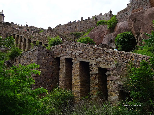 Stairs Architecture of Golkonda Fort, Hyderabad