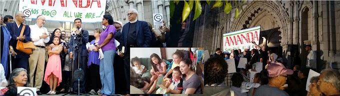 Líderes dominicanos encabezan vigilia en apoyo a guatemalteca refugiada en iglesia del Alto Manhattan