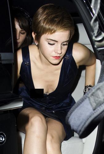 Ohne emma slip watson Emma Watson: