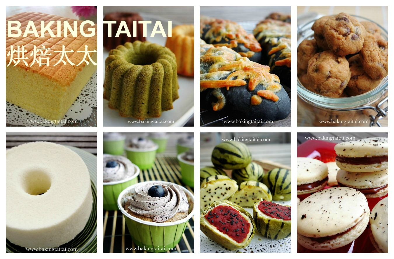 Baking Taitai Japanese Cream Cheese Chiffon Cake Premium Blueberry 20cm