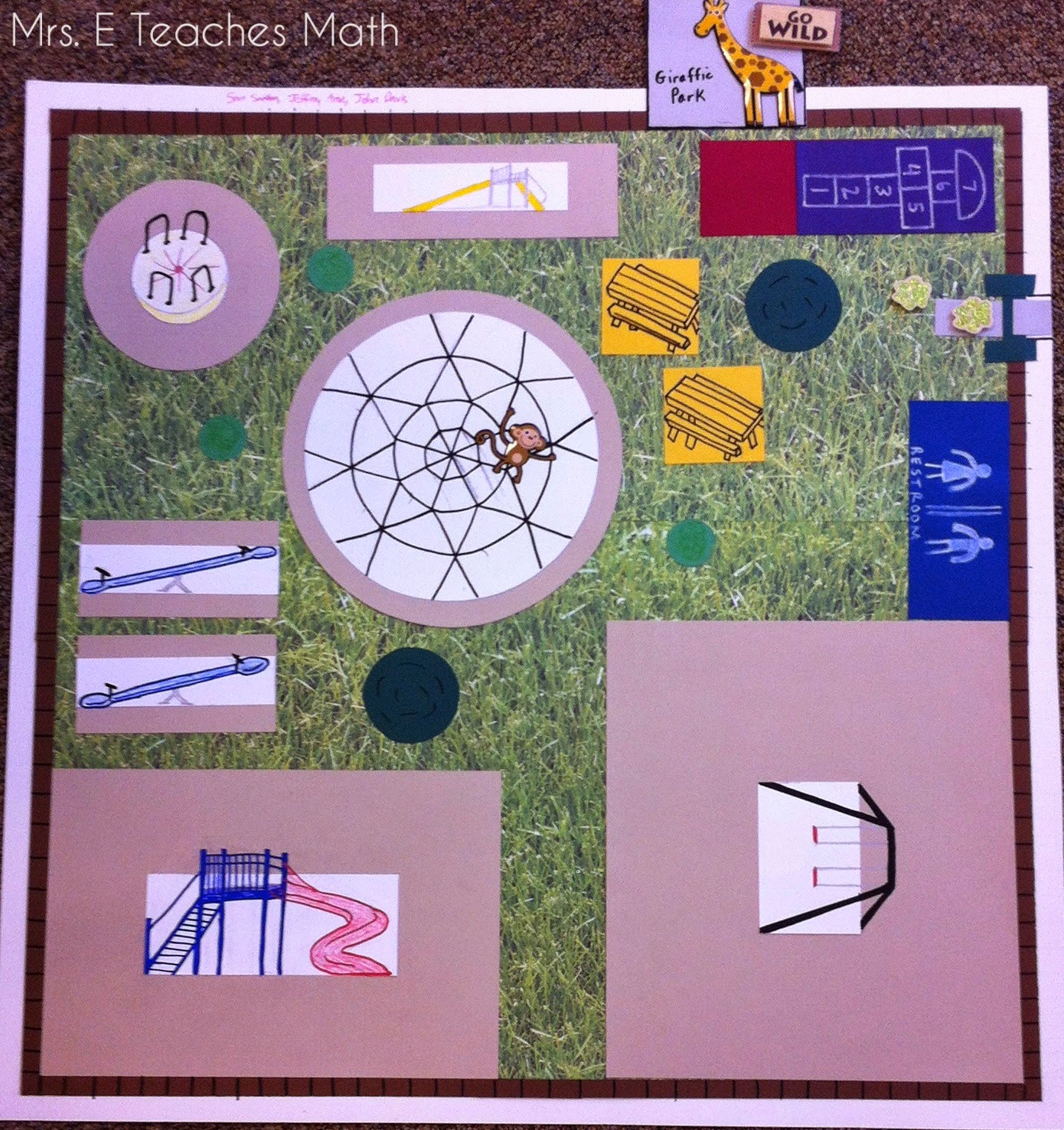 Playground Project - using perimeter and area in geometry